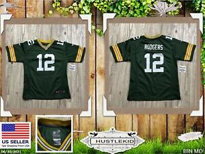 Genuine Nike Aaron Rodgers #12 Green Bay Packers Jersey Boy Youth Large L 🔥MD