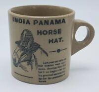 India Panama Horse Hat Vintage Mug By Moira Pottery England