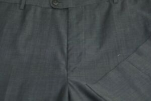 Zanella Men's Gray Sharkskin Luxury Wool Flat Front Todd Dress Pants 38 x 32