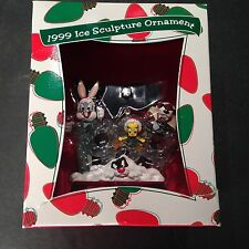 NIB 1999 Ice Sculpture Ornament - Warner Brothers - Bugs Bunny Tweety Bird