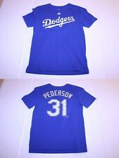 Youth Los Angeles Dodgers Joc Pederson L (14/16) Jersey T-Shirt Tee Majestic
