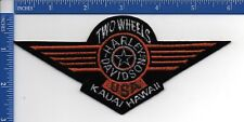 Authentic HARLEY-DAVIDSON Two Wheels HD Kauai, Hawaii Orange Fat Boy patch NOS