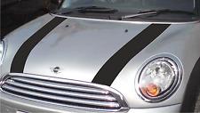 BMW Mini  R50  (2000 - 2006) Gloss Black Bonnet Stripes