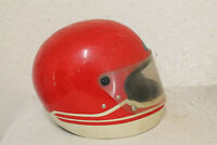 Vintage Shoei S-25 Motorcycle Full Face Helmet  Drag Race Scooter 1980