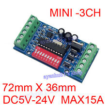 Mini 3-Kanal DMX512 Decoder 15A RGB Controller LED Stage lighting Driver Regler
