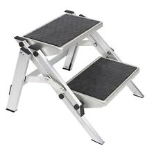 PORTABLE ALUMINIUM FOLDING DOUBLE STEP for caravan motorhome camper van