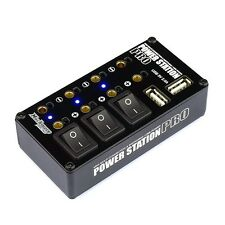 Much-More Power Station Pro Multi Distributor Black (Two USB Ports) - MM-PSPK