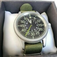 Wrist watch POBEDA USSR Military Vintage+New Nato Strap / Serviced