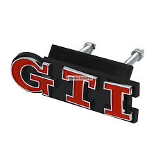 RED GTI Grill Emblem For VW Polo GOLF MK GTI Grille Car Chrome 2 Pcs Badge