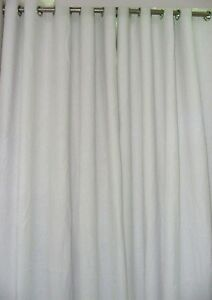 Pure Natura Linen Curtains White and Ivory color custom made as per selections