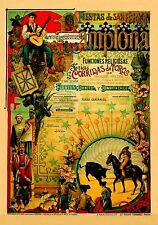 MAGNET BULLFIGHTING  Corridas de Toros PAMPLONA 1903 Not Real Poster