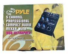 Pyle 5 Channel professional Compact Audio Mixer With USB Interface (PAD20MXU)