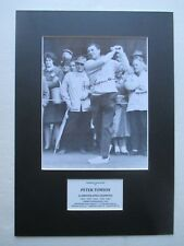 PETER THOMSON GOLF SIGNED 5x BRITISH OPEN CHAMPION A3 MOUNTED PHOTO DISPLAY- COA