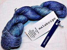 Beauty AZULES 420yd Skein Malabrigo BABY SILKPACA Alpaca & Silk SOFT LUXURY YARN