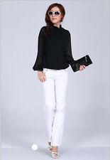 Women's Bow Neck Chiffon Blouse/Top Plus Size