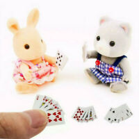 Miniature Poker Mini 1:12 Dollhouse Playing Cards New Doll House Poker Randomly