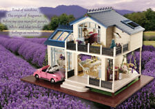 Christmas New Year Gift Wooden Miniature Diy House Dollhouse Provence Lavender