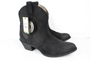 Ariat Women's Cantina Round Toe Cowboy Booties Size 11 Black Suede 10029672