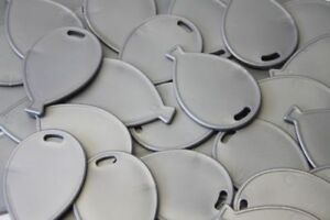 Balloon Shaped baloon Plastic Weights - Silver - Packs of 5,10, 20, or 50 baloon