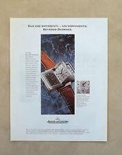 E722- Advertising Pubblicità -1997- JAEGER LE COULTRE OROLOGIO REVERSO DUOFACE