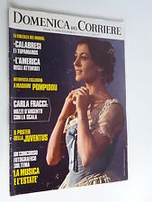 DOMENICA DEL CORRIERE   6 giugno  1972  //CARLA FRACCI // POSTER JUVENTUS 1972