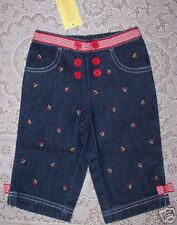 NWT 6-12 Months  Gymboree GOOD OLD DAYS Sailor Cherry Embroidered Denim Jeans