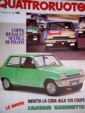 Quattroruote 233 1975  128 coupé: coda rifatta. Nuova Alfasud Giardinetta [Q95]
