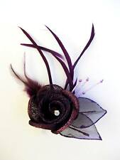 "Fascinator Small Feathers ""Danielle""   - Purple"