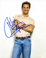 REPRINT - MATTHEW MCCONAUGHEY 2 autographed signed photo copy