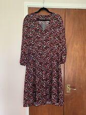 New Look Petite Midi Floral Tea Dress Size 14
