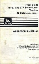 John Deere 42-Inch Front Blade For Lt Ltr Lawn Tractors Operator'S Manual