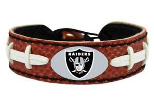 Oakland Raiders Classic Football Leather Bracelet