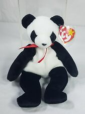 "Ty Beanie Baby ""Fortune"" Panda Bear Retired  12/6/1997 Tush Error"