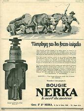 Publicité ancienne accessoire automobile bougie Nerka  issu du magazine 1925