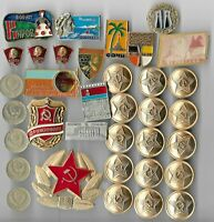 Rare Old Military Lenin Pin Medal Coin Vintage CCCP Cold War Collection Lot #86