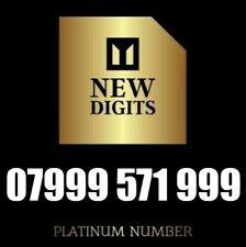 GOLD EASY RARE NEW BUSINESS MOBILE PHONE NUMBER DIAMOND PLATINUM SIM CARD 999999