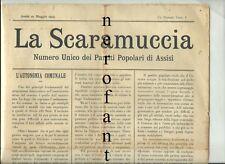 ASSISI-La Scaramuccia-Numero Unico dei partiti popolari di Assisi-1903