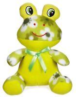 "Zanies Dog Toy Green Frog Fleece Cuddler Squeaker 7"""