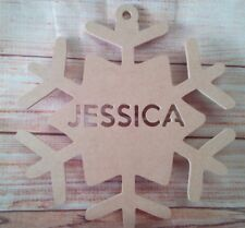 Christmas Snow flakes MDF  200mm craft Shapes, Plaques, 1x Personalised