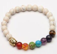 Fashion Natural Color Stone beads 8mm Tibetan Silver Buddha Lucky Man Bracelet