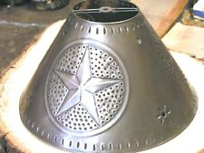 Tin Punch Metal Lamp Shade, Med