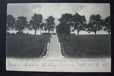 BEN MAC DHUI, Summer Home of JOHN ALEX. DOWIE, Montague, MI postcard, 1906