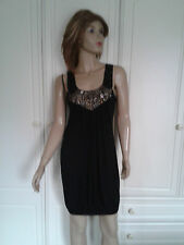 COTTON CLUB BLACK LBD SIZE 10 EMBELLISHED PARTY