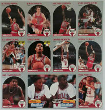"Chicago Bulls ""Last Dance"" 1990-91 NBA HOOPS uncut sheet 10 cards Michael Jordan"