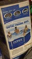 """New listing Intex 10' x 30"""" Metal Frame Swimming Pool Set with Filter Pump Local Pickup Only"""