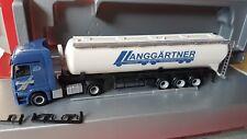 herpa  Actros LH  60m³ Silo-Sattelzug --Langgärtner Logistik--  95030 Hof 924146