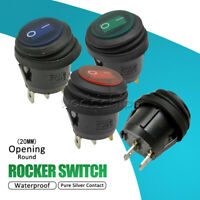 1/5/10x Waterproof Round 20MM Boat Rocker Switch 2/3 PIN 2 Files ON-OFF Terminal