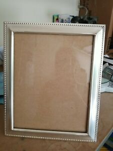"""Lawrence Frames 8"""" x10"""" Metal Picture Frame Silver-Plate"""