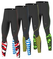 Men's Compression tights Base layer long pants running yoga Gym sports fit  pant