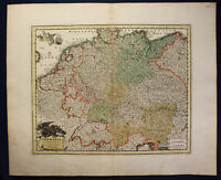 Kupferstichkarte von Kauffer nach Weigel Germania in Circulos divisa um 1700 sf